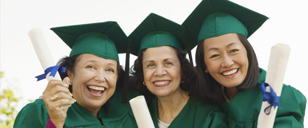 Happy Women Graduating from Adult Education