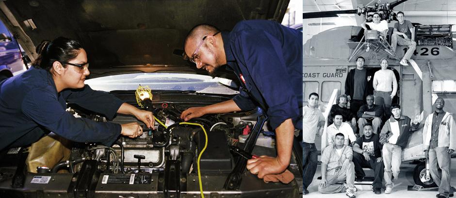 Mechanic and coast guard training